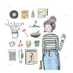 and smile studio Fashion Illustration Portfolio, Ink Illustrations, Watercolor And Ink, Artsy Fartsy, Drawings, Happy, Instagram Posts, Artwork, Studio