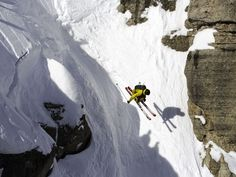To ski or snowboard Corbet's Couloir, the nation's