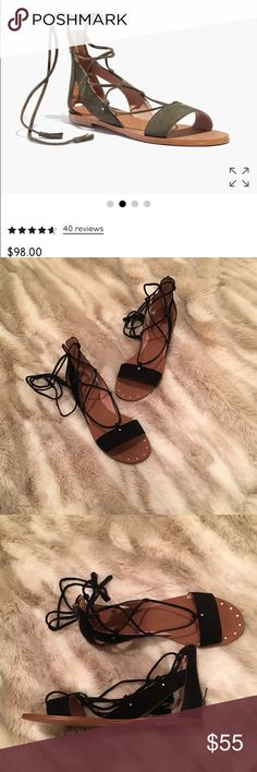 NWOT Black Madewell Bridget Sandals New, never worn black Bridget Sandals by Madewell. Madewell Shoes Sandals