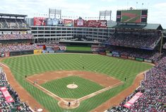 Globe Life Park -Tenant: Texas Rangers -Capacity: 48,114 -Surface: Grass -Cost: $191 Million -Opened: April 11, 1994 -Former Name(s): Ballpark in Arlington (1994-2004, '07-'13), Ameriquest Field (2005-'06)