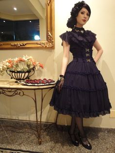 Gothic lolita.  Sometime's the look is too much, but I love it so.  This is perfect