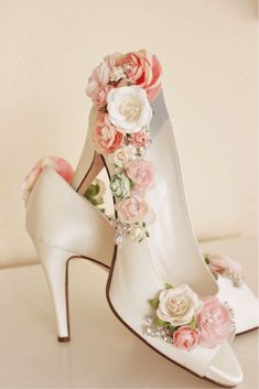 Items similar to Whimsical Woodland Blush Flower Bridal Shoes, Shoe Embellishing Service, Rhinestone Wedding Shoes, Bridal Shoes, Floral Shoes on Etsy - Schuhe Pretty Shoes, Beautiful Shoes, Cute Shoes, Me Too Shoes, Rhinestone Wedding Shoes, Bridal Shoes, Diy Wedding Shoes, Wedding Heels, Wedding Jewelry