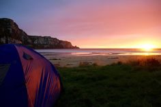 My campsite at the break of dawn. It was pretty hard to leave this. #camping #wanderlust #adventure #nz