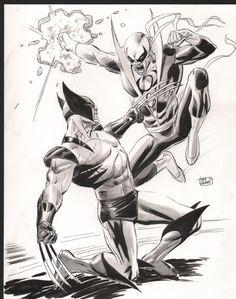 Lee Weeks Wolverine vs. Iron Fist Comic Art