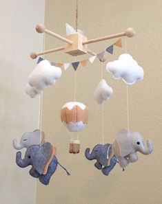 Diy baby stuff - Baby mobile tribal mobile fox mobile coyote mobile bear mobile tribal nursery cactus mobile c Cool Baby, Baby Crafts, Diy And Crafts, Fox Mobile, Elephant Mobile, Tribal Nursery, Diy Bebe, Baby Toys, Nursery Decor