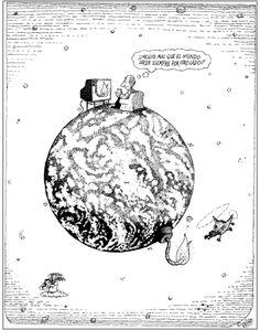 "Quino / ""The world is always burning somewhere else"""