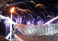 The Olympic flame at the 2004 opening ceremony in Athens 1976 Olympics, Summer Olympics, Premier League, Olympic Marathon, Olympic Flame, Olympic Sports, Olympics Opening Ceremony, Wedding Ceremony Signs, New Year Pictures