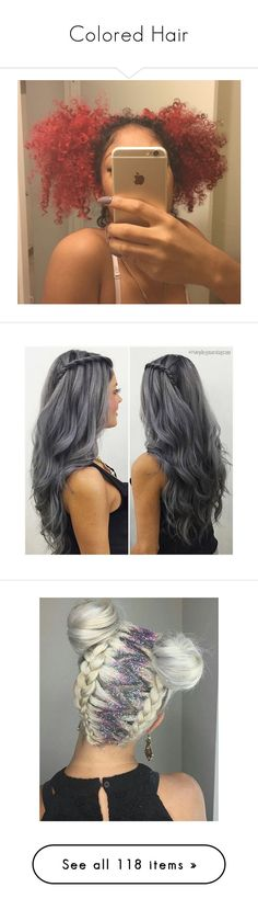 """""""Colored Hair"""" by janay1206 ❤ liked on Polyvore featuring hair, pictures, beauty products, haircare, hair styling tools, little mix, beauty, hairstyle, hairstyles and accessories"""