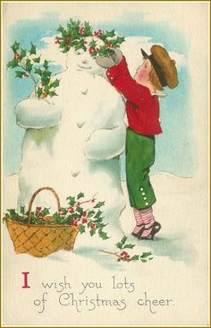 Little Birdie Blessings : Free Vintage Christmas Postcards of Children