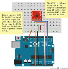 GY-61 3 Axis Accelerometer and Arduino