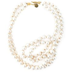 Stella McCartney pearl necklace ($935) ❤ liked on Polyvore featuring jewelry, necklaces, white, twisted pearl necklace, white pearl necklace, stella mccartney jewelry, pearl charm and stella mccartney