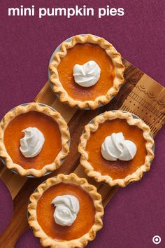 Pump up the party with these mini pumpkin pie desserts. They're super tiny, super cute and totally delicious.