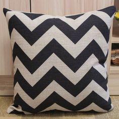 45x45cm Black Chevron Zig Zag Pattern Linen Cushion Covers by Decho, http://www.amazon.com/dp/B009M57OVM/ref=cm_sw_r_pi_dp_8Hklrb18N379M