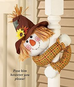 Collections Etc Scarecrow With Poseable Arms Fall Decoration Scarecrow Doll, Scarecrow Crafts, Fall Scarecrows, Autumn Crafts, Thanksgiving Crafts, Thanksgiving Decorations, Holiday Crafts, Fall Decorations, Halloween Sewing
