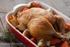 Roast chicken, potatoes & carrots | Peanut Blossom