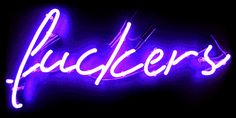 """"""" Fuckers """" Kitchen Home Lamp Harley Sex Nude Bar Poster Neon Light Sign"""