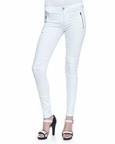 Skinny Moto Zip Jeans by Hudson at Neiman Marcus.
