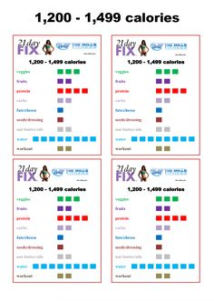 21 day fix tracker sheet 1200 1499 fix meal planner how to plan