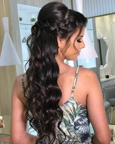 Quince Hairstyles, Bride Hairstyles, Ponytail Hairstyles, Formal Makeup, Prom Hair, Hair Hacks, Bridal Hair, Hair Care, Hair Color