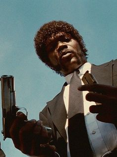 not manny disagree about this movie Samuel L. Jackson as Jules Winnfield - 'Pulp Fiction', directed by Quentin Tarantino. Quentin Tarantino, Tarantino Films, Tarantino Pulp Fiction, Arte Do Pulp Fiction, Francisco Javier Rodriguez, Jheri Curl, Samuel Jackson, The Blues Brothers, By Any Means Necessary