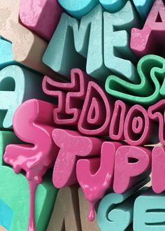 para una animacion en vray salienfdo las letras