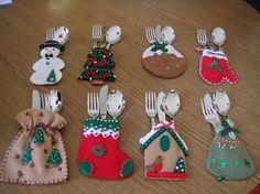 35 ideas de cubierteros navideños