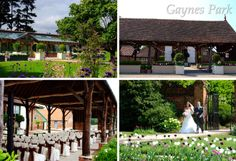 Our current outdoor ceremony area and the Orangery for indoor ceremonies.    To comply with and be registered for a UK wedding licence, couples must be married under a 'roof'.