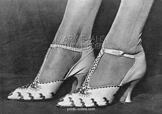 1920's wedding shoes  - Lady Elizabeth Bowes-Lyon's - 1923 - The Queen Mother