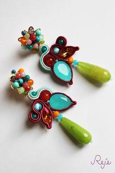 Soutache earrings -Reje creations- SHOP: https://www.etsy.com/it/shop/Rejesoutache?ref=hdr_shop_menu Facebook: https://www.facebook.com/rejegioielliinsoutache/