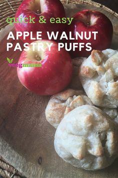 Apple Walnut Pastry Puffs