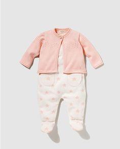 Conjunto de bebé niña Brotes rosa