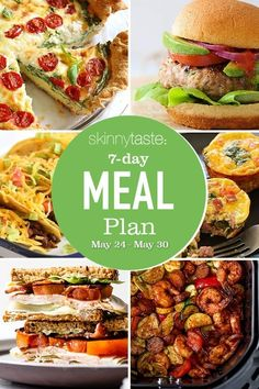 Healthy Low Calorie Meals, Healthy Menu, Healthy Eating, Healthy Recipes, Delicious Recipes, Healthy Foods, Weight Loss Meal Plan, Weight Watchers Meals, 7 Day Meal Plan