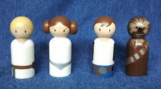 Star Wars Inspired Peg Doll Playset / Cake Toppers / por WoolyLlama