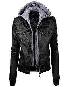 Lock and Love Women's Double Hoodie Faux Leather Jacket M BLACK Lock and Love http://www.amazon.com/dp/B00NGZZDC6/ref=cm_sw_r_pi_dp_3KxDub1FB6054