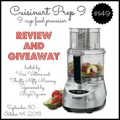 Cuisinart Prep 9 Food Processor Review and Giveaway courtesy of BuyDig.com