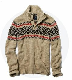 Men's Fireside Fair Isle Sweaters Hope everyone is in the Christmas spirit! Looks Style, Style Me, Fair Isle Pullover, Mode Man, Winter Mode, Sweater Weather, Men Sweater, Mens Winter Sweaters, Holiday Sweaters