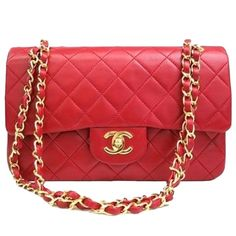 "Classic Chanel Red bag Authentic vintage 2.55 Absolutely stunning classic first edition  2.55 authentic original red bag with gold hardware, gently loved, this back measures 10 x 3 x 6, drop 9"" It is in impeccable shape with no signs of any wear, lambskin leather, I will not negotiate prices in the comment section, please send an offer if you are genuinely interested. Warm Regards CHANEL Bags Shoulder Bags"
