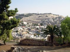 Jerusalem, Israel - The Kidron Valley and Mount of Olives are in the background.