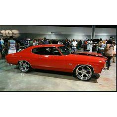 atlanta chevelle atl red and black billet 5 star wheels