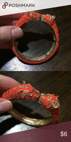 Tiger Bangle Orange stretch bangle - good condition! Jewelry Bracelets