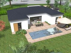 Fine Plan De Maison Type Guadeloupe that you must know, You?re in good company if you?re looking for Plan De Maison Type Guadeloupe Village House Design, Bungalow House Design, Small House Design, Modern House Design, Home Building Design, Home Design Plans, Building A House, Villa Design, Facade Design