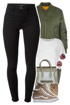 """primetime"" by daisym0nste ❤ liked on Polyvore featuring WearAll, River Island, Christian Dior, CÉLINE, J Brand and Vans"