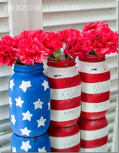 Painted Mason Jars - It All Started With Paint