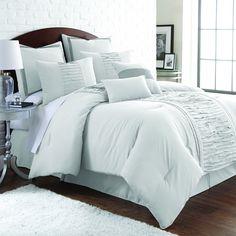 Marilyn Embellished Off-white 8-piece Comforter Set | Overstock™ Shopping - Great Deals on Comforter Sets