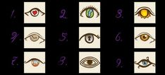 It has been said that eyes can reveal a lot about someone. By looking into the nine eyes in this picture, the one you are drawn to can indicate a lot about your personalty. Once you have selected one simply scroll down to discover an insight into what this indicates about your personality. You may find the result surprising!