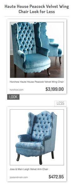 horchow haute house peacock velvet wing chair vs joss u0026 main leigh velvet arm chair