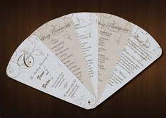 Image result for wedding fan programs