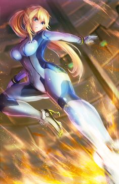 Samus Aran, Zero suit, Metroid series artwork by Freeze Ex. Nintendo Characters, Video Game Characters, Fantasy Characters, Anime Characters, Robot Ninja, Samus Aran Zero Suit, Samus Zero, Character Art, Character Design