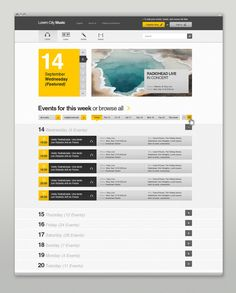Event & Music Website by Bureau Oberhaeuser, via Behance