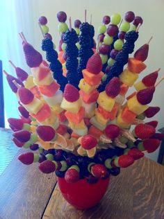 Fruit arrangement.